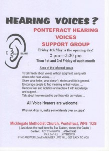 Pontefract Hearing Voices Group Flyer