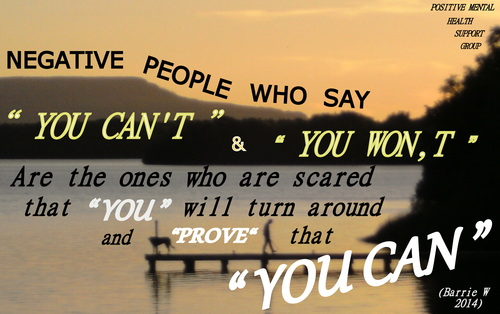 People who say you can't