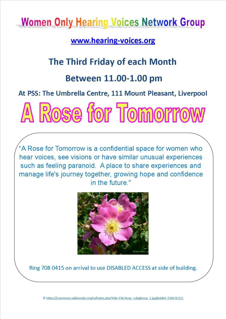 Rose for Tomorrow Group Flyer