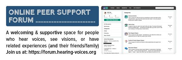 Peer support forum flyer