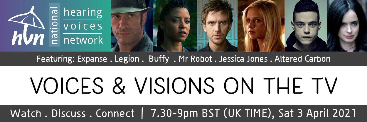 Voices and Visions on the TV flyer