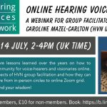 14 July: Online Webinar for Hearing Voices Group Facilitators